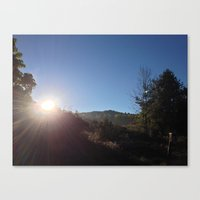 SUNRISE GREETING (Crescent Trail, Fairport, NY) Canvas Print