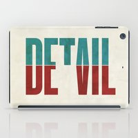 Devil in the detail. iPad Case