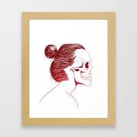 Skull Girls 2 - Crimson Maroon Framed Art Print