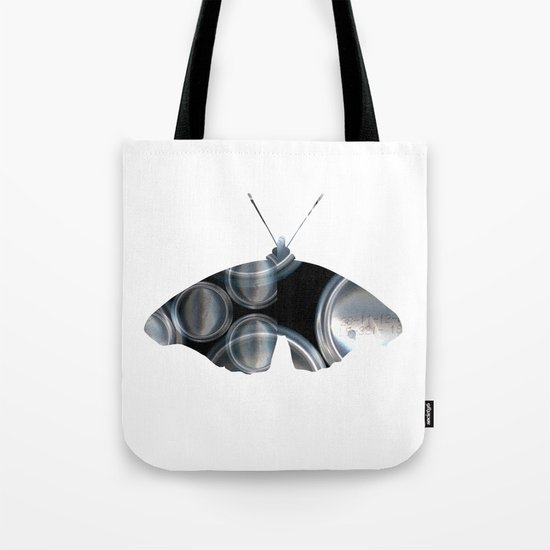 Metal Can Butterfly Collage Tote Bag