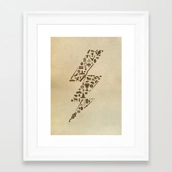 Lightning never strikes twice  Framed Art Print