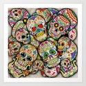 Sugar Skull Collage Art Print