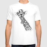 I'm too SASSY for my hat! Giraffe. Mens Fitted Tee White SMALL