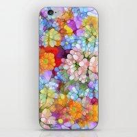 Rainbow Flower Shower iPhone & iPod Skin