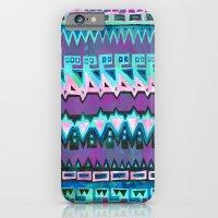 AZTEC STRIPE - pink iPhone 6 Slim Case
