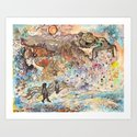 Snow in the Sunshine Art Print