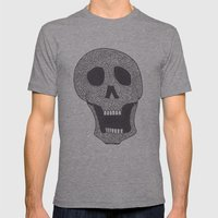 Celtic Skull Mens Fitted Tee Athletic Grey SMALL