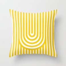 U, Throw Pillow