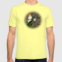 Orange Tip Butterfly Mens Fitted Tee Lemon SMALL