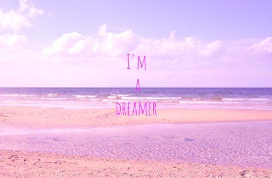 I'm a dreamer Art Print