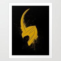 Mischief Splatter Art Print
