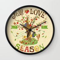 Fall In Love With The Se… Wall Clock
