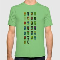 Superheroes Villains Mix  Mens Fitted Tee Grass SMALL