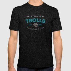 The Scourge Of The Inter… Mens Fitted Tee Tri-Black SMALL