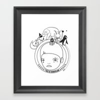 I WAS IN WONDERLAND Framed Art Print