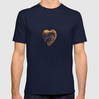HORSES - On Sugar Mounta… Mens Fitted Tee Navy SMALL