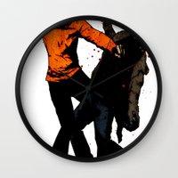 Zombie Fist Fight! Wall Clock