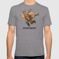 Mountaineer!  Mens Fitted Tee Tri-Grey SMALL