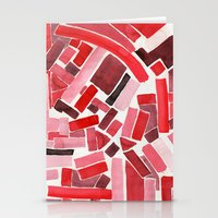 warm color pattern Stationery Cards