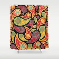Bohemian Paisley  Shower Curtain
