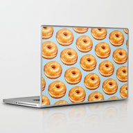 Glazed Doughnut Pattern Laptop & iPad Skin
