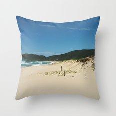 Sun in Brazilian Beach Throw Pillow