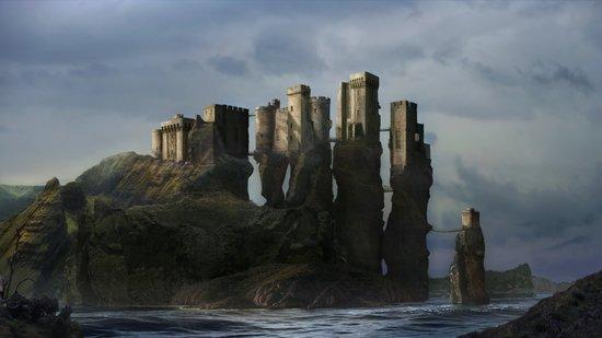 Sea Castle Art Print