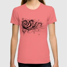 CURVES Womens Fitted Tee Pomegranate SMALL