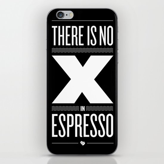 No X in Espresso – Dark Grey iPhone & iPod Skin