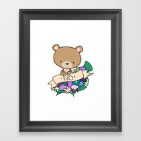 Brown Bear, NO! Framed Art Print
