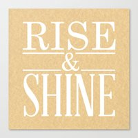 Canvas Print featuring Rise & Shine by Shannon Sutton