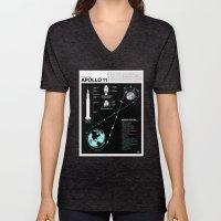 Apollo 11 Mission Diagra… Unisex V-Neck