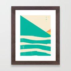 Secret Surf Map 002 — … Framed Art Print