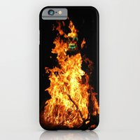 iPhone & iPod Case featuring Fire demon by Tanella