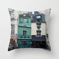 The Streets Of Paris, Fr… Throw Pillow