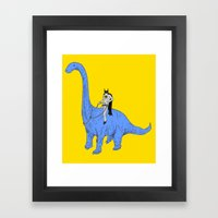 Dinosaur B Framed Art Print