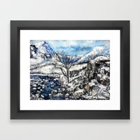 Glencoe Snows Framed Art Print