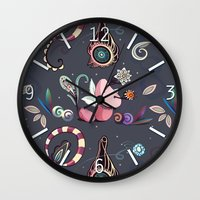 camtric fantasy pattern Wall Clock