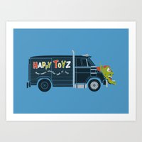 The Happy Toyz Van Art Print