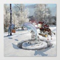 Blue Christmas Canvas Print