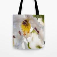 Orchid White Tote Bag