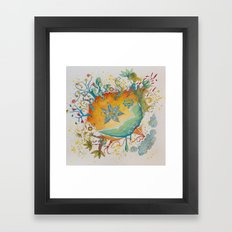 the beach  planet Framed Art Print