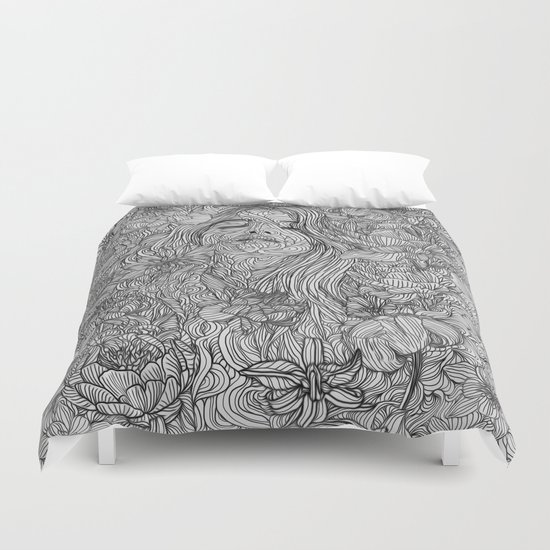 there 39 s no such thing as meaning of life duvet cover by pedrotapa society6. Black Bedroom Furniture Sets. Home Design Ideas