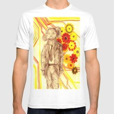 Steampunk Ram White Mens Fitted Tee SMALL