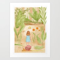 Riding In The Woods Art Print