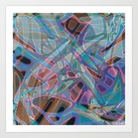 Colorful Abstract Staine… Art Print