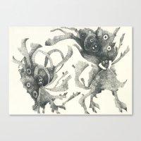 Several Creatures Canvas Print