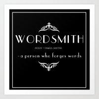 WORDSMITH Art Print