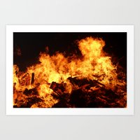 Easingwold Bonfire (16) Art Print