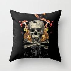 Hard Skull Throw Pillow